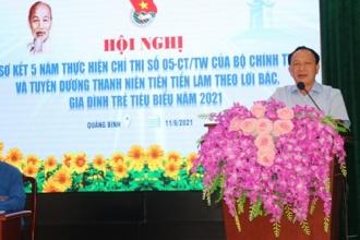 Tuổi trẻ VQGPhong Nha - Kẻ Bàng được tuyên dương tại Hội nghị sơ kết 05 năm thực hiện Chỉ thị số 05-CT/TW của Bộ Chính trị và tuyên dương thanh niên trẻ tiên tiến, gia đình trẻ tiêu biểu năm 2021